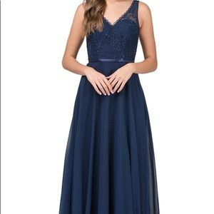 Dancing queen lace bodice embellished ball gown